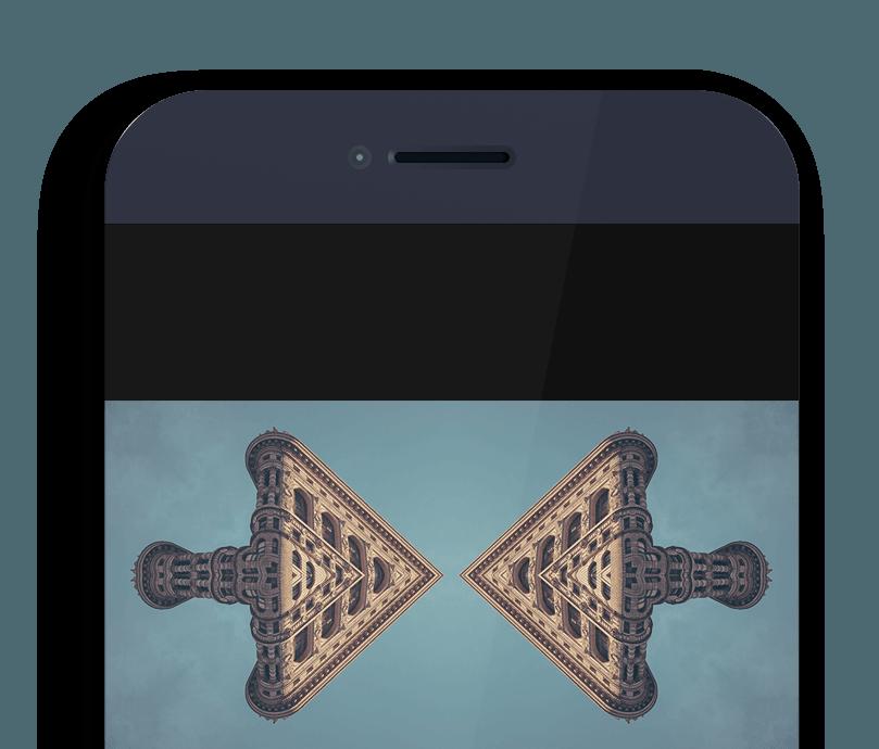 Abstract App Photo Symmetry Art Generator based on Mirrors